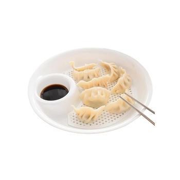 中国•悠家良品水饺盘子控水果盘*2个装
