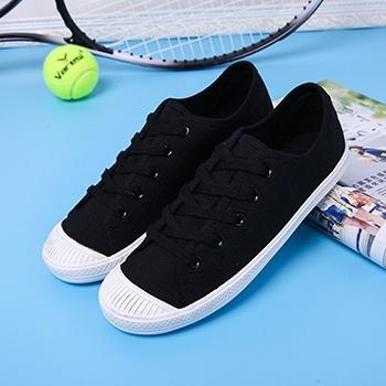 娅莱娅帆布鞋小白鞋学生韩版黑色