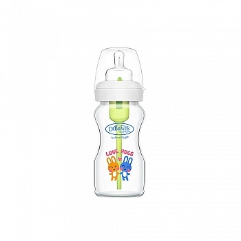 美国?布朗博士爱宝选9安士玻璃宽口婴儿奶瓶9oz/270ml(晶彩版)
