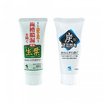日本•小林制药 炭牙膏100g+生叶牙膏100g