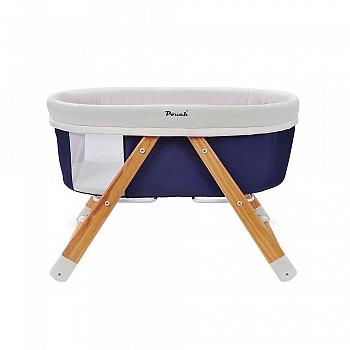 pouch多功能便携折叠婴儿床H26蓝色
