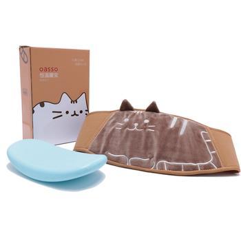 oasso 刺绣猫咪暖腹宝-微波炉