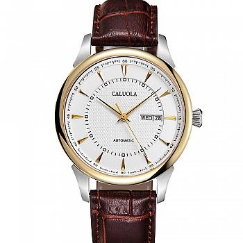 中国•卡罗莱黄金壳牛皮表带机械男腕表