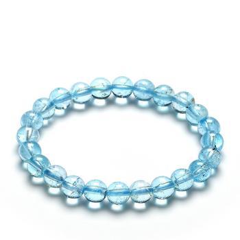 今上珠宝 托帕石手链水晶手链女