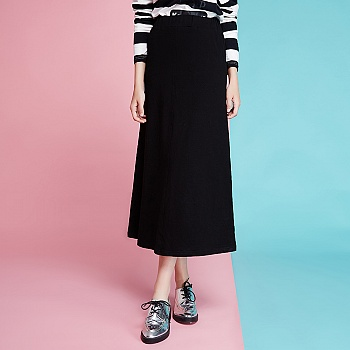 针织休闲橡筋半身裙