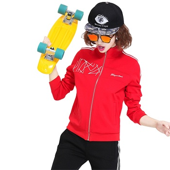 中国•运动休闲大码时尚两件套 大红