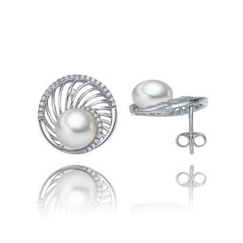 今上珠宝  925银珍珠耳钉女