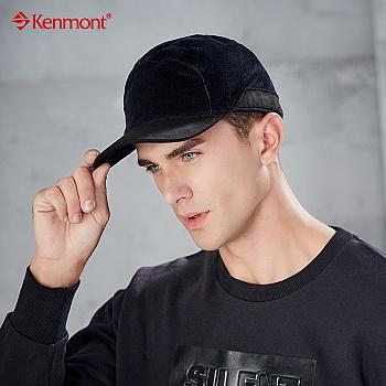 中国•kenmont冬天帽子男麂皮绒保暖帽2502