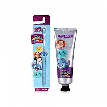 韩国•LG竹盐tsum tsum系列产品组合装(迪士尼缤酷系列)(牙膏100g+牙刷1支)