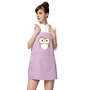 婧麒孕妇金属纤维背带裙淡紫色