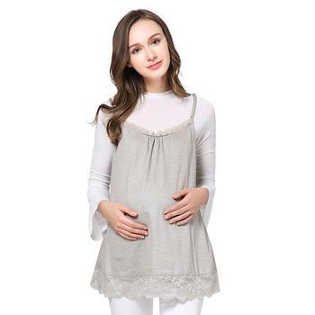 婧麒防辐射服孕妇装夏款灰白色