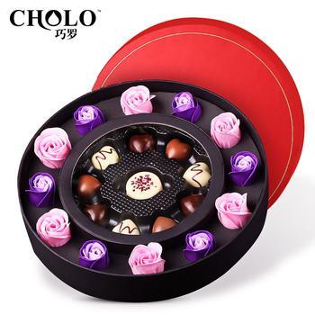 巧罗玫瑰馨语纯可可脂巧克力礼盒