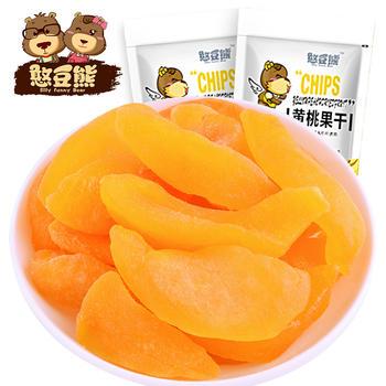 【憨豆熊】黄桃干100g果干果脯蜜饯休闲零食