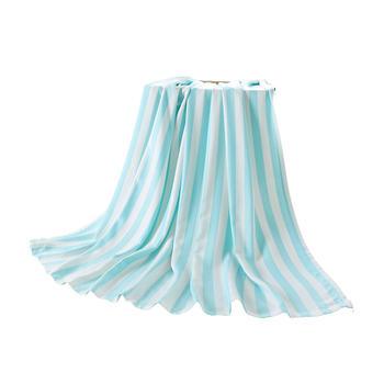 澳斯贝贝宝宝竹纤维条纹盖毯三色