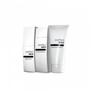 中国•欧珀莱 (AUPRES)俊士净颜护肤三件套(温和洁面膏125g+控油爽肤水150ml+滋润凝乳100ml)