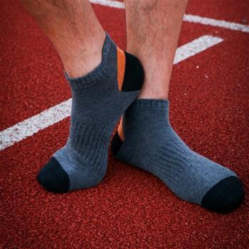赛棉 3双装护后跟运动纯棉男船袜