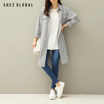 中国•韩版SZ百搭宽松长袖中长款衬衫