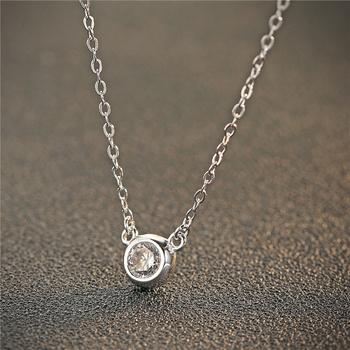 中国•E·weil 短款锁骨链圆形锆石玫瑰金