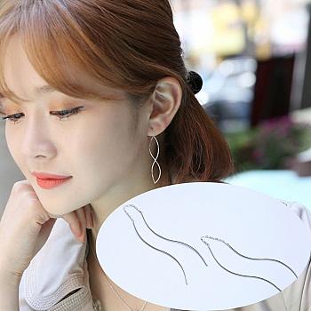 中国•漂亮百合 925银S时尚耳线