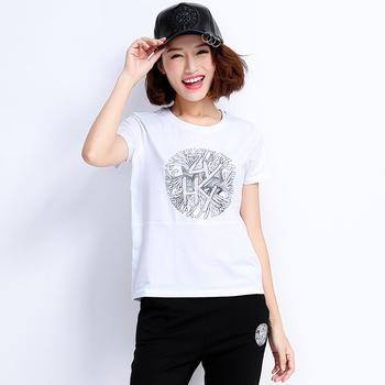 自由呼吸韩版休闲短袖套装女白色