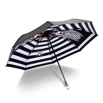 德国iRain三折条纹斑点狗太阳伞