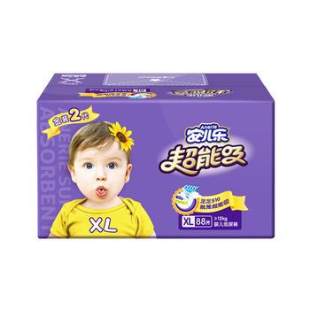 安儿乐超能吸纸尿裤XL88片