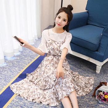 中国•天使格格韩版中长款两件套连衣裙
