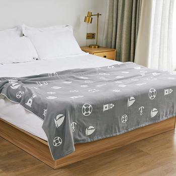 三利毛巾被纯棉双人盖毯夏季薄款被子单人纱布毯子夏天午睡空调毯