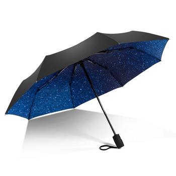 德国iRain自动反向汽车印花自动伞节节收自动伞