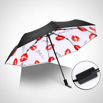 德国iRain童真可爱小清新黑胶防晒晴雨伞