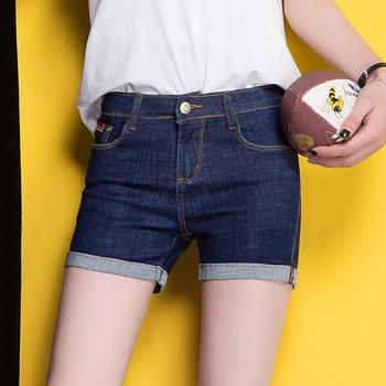 中国•女式牛仔裤夏季新款女装W563卷边