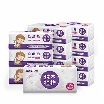 中国•植护 原木婴儿抽纸12包