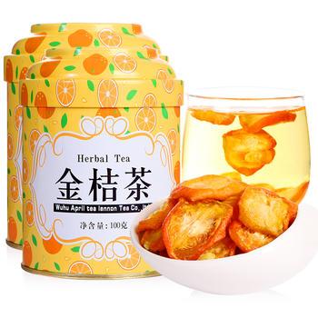 四月茶侬 金桔茶100g×2罐