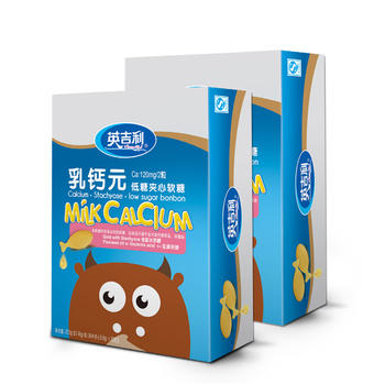 英吉利 乳钙元夹心软糖30粒/盒*2盒