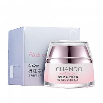 中国•自然堂(CHANDO)粉红素颜霜 50g
