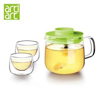台湾Artiart茶具 耐热玻璃花茶壶