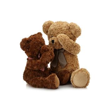 柏文熊领结害羞熊公仔毛绒玩具可爱玩偶泰迪熊40cm