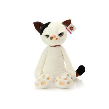 柏文熊米田猫日系毛绒玩具可爱猫咪公仔玩偶38cm