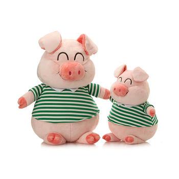 柏文熊微笑猪毛绒玩具38cm