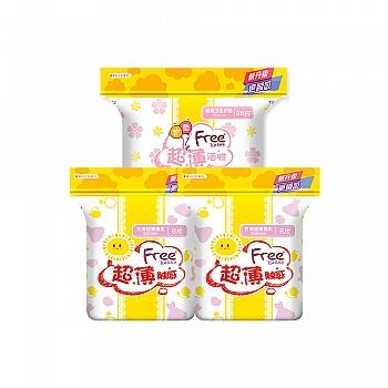 中国•Free·飞 日用棉柔卫生巾+护垫组合 共44片