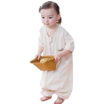 欧孕婴儿睡袋春秋薄款彩棉睡袋