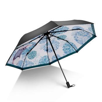 德国iRain黑胶清新童真可爱防晒晴雨伞