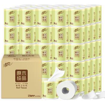 清风原木3层32卷卷筒纸