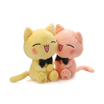 柏文熊 微笑猫毛绒玩具公仔26cm