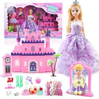 奥智嘉梦幻别墅芭比套装女孩玩具