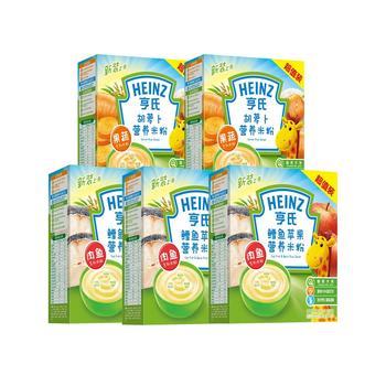 亨氏婴儿营养米粉400g*5盒荤素