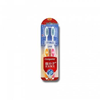 高露洁(Colgate)纤纳丝纤柔牙刷×2(高分子TPU软胶材料)(多款颜色,随机发货)