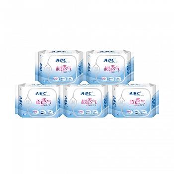 中国•ABC丝薄棉柔护垫22片*5包 共110片