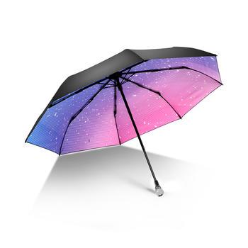 德国iRain黑胶星辰防晒晴雨太阳伞