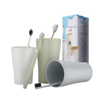 Ymer创意家庭牙刷漱口杯套装 塑料牙刷杯子刷牙杯儿童洗漱杯8件套